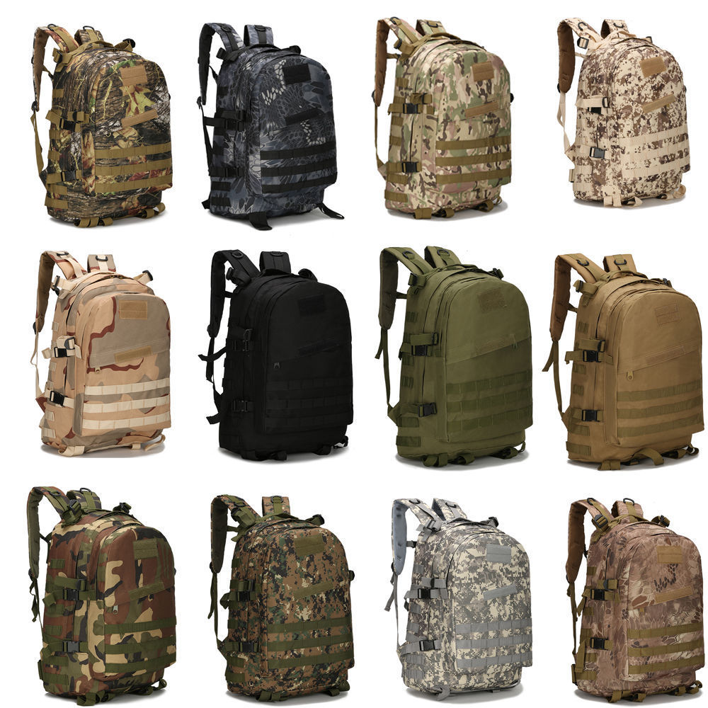 55L 3D Outdoor Army Military Tactical Rucksack Backpack Camping Hiking Bag