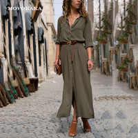 Nieuwe Hot Mode Knop Lange Jurk Elegante Vrouwen Jurken Casual Werk Jurk Plus Size Pocket Slanke Zwarte Jurken Vrouwen Lange mouwen