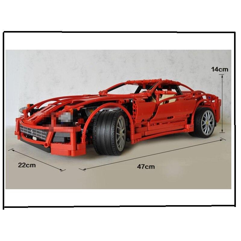 DECOOL 3333 1322 sztuk 1:10 super samochód F1 wyścigi model bloki cegły budowlane zestaw zabawek dla dzieci prezenty technic 8145 Ferrari w Klocki od Zabawki i hobby na  Grupa 2