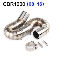 CBR1000 Middle link pipe For honda cbr1000rr 08 16 Motorcycle muffler exhaust pipe Midified Stainless steel Middle pipe Slip On