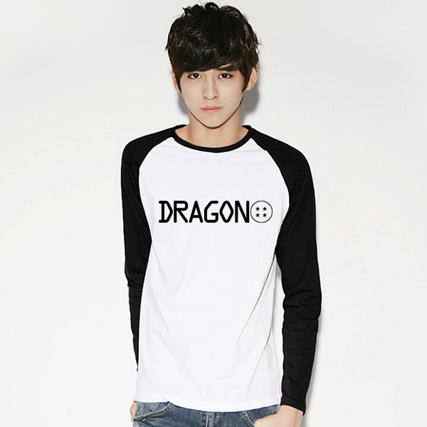 DGCY Male Raglan T-shirt Long Dragon ball 2