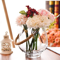 O.RoseLif Brand New creativity Glass Vase With Rope Home decoration home Terrarium for wedding decoration