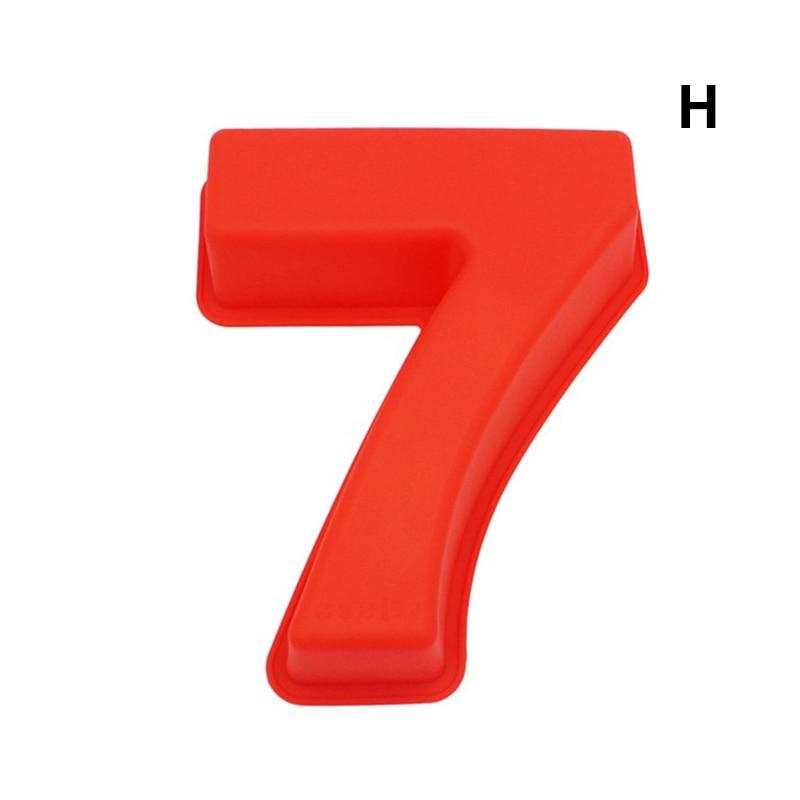 0-9 цифр, форма для торта, форма для украшения тортов, инструмент для свадьбы, дня рождения, юбилея - Цвет: 7