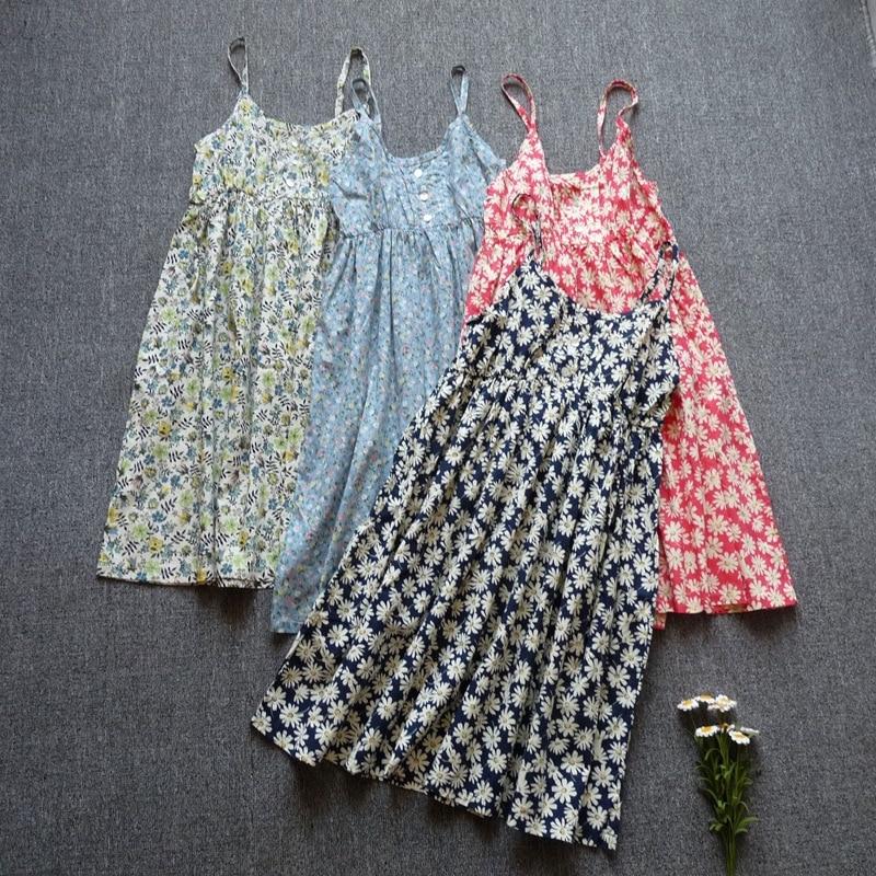 Cheap clothes china summer dress 2017 cotton spaghetti strap print casual dresses sale sundresses dresses free