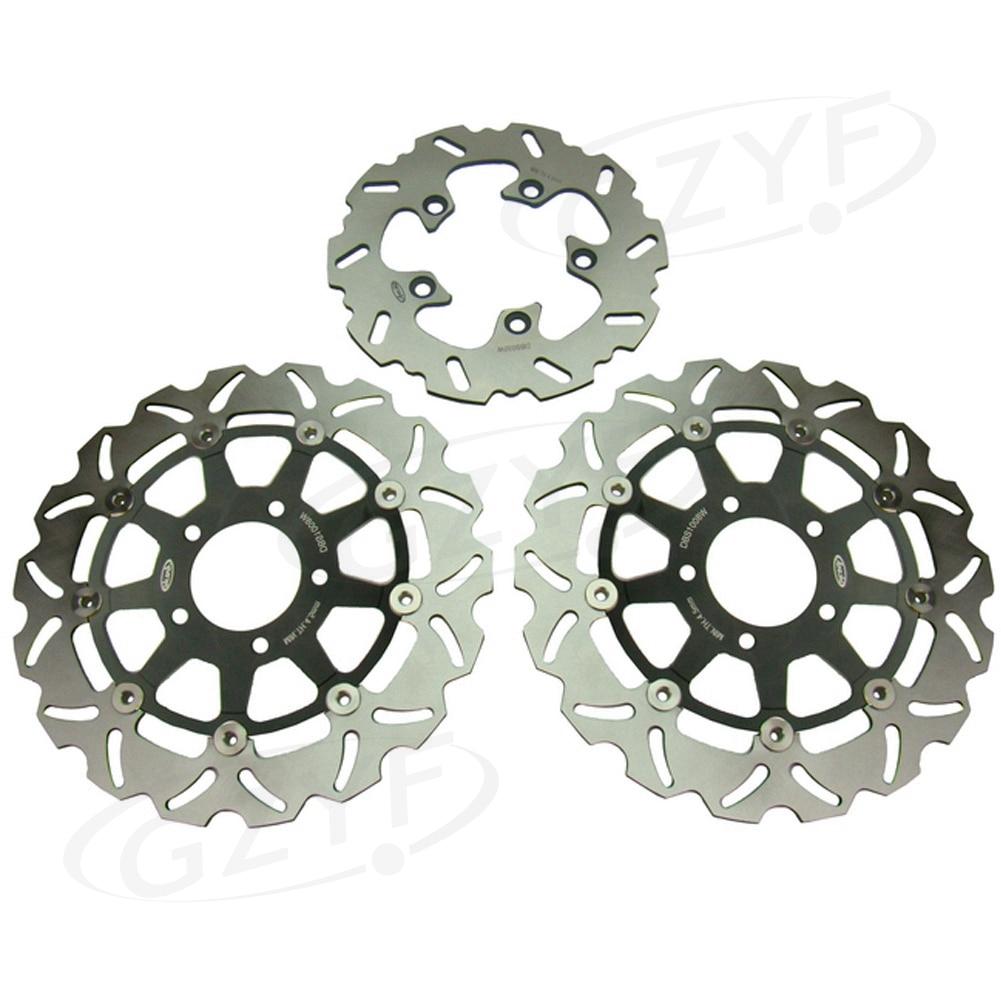Front Rear Brake Disc Rotors Set For Suzuki 2004 2005 GSXR 600 750 K4 & 2003 2004 GSXR 1000 K3 Black magnetic oil drain sump plug m14 x 1 25 for suzuki gsxr 600 750 1000
