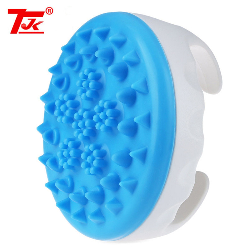 TJK Soft Cellulite Body Massager Oil Scorpion Meridian Brush Slimming Relaxing Spa TPE double-effect Massage Granules anariti relaxing massage oil