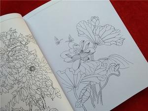 Image 2 - Mới Của Trung Quốc dây chuyền sơn vẽ Màu cuốn sách bút chì Hoa Chim và côn trùng màu cuốn sách mô hình Khắc cho người mới bắt đầu