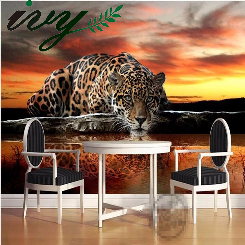Custom Photo Wallpaper for Walls Large Leopard Wall Murals Paper Non Woven Wallpapers Living Room TV Sofa Background Home Decor