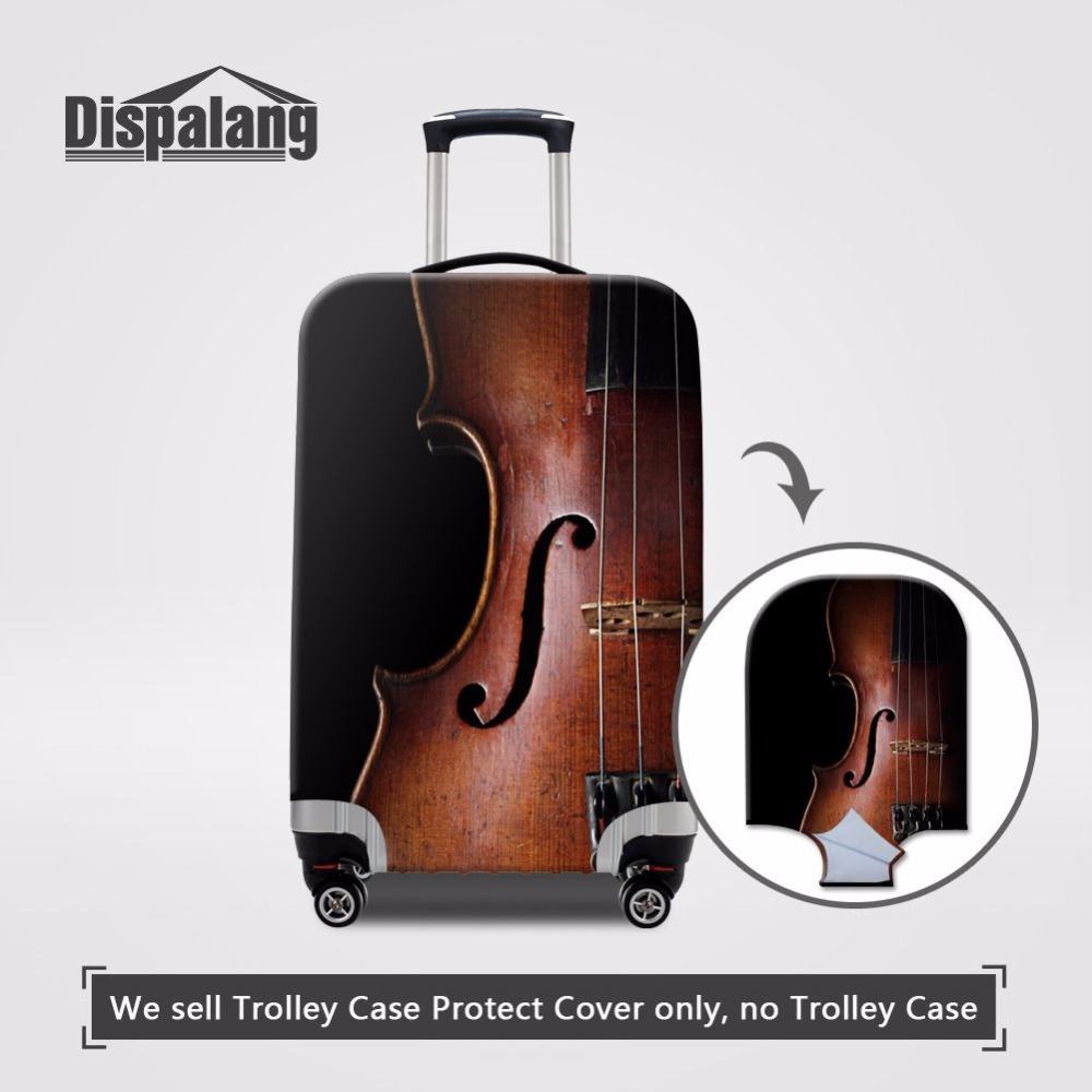 290597ea3af4 US $14.99 25% OFF|Dispalang Travel On Road Luggage Protective Cover Case  For A Suitcase Musical Violin Printing Elastic Luggage Covers for Girls-in  ...