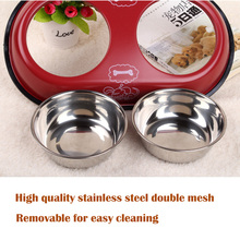 2 in 1 Pet Dog Food Bowl Puppy Travel Feeder Water Dish Stainless Steel Large Dog Drinking Bowl Bottle Pet Products 1