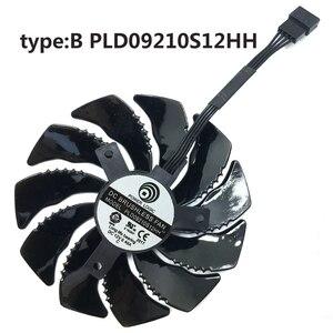 Image 3 - 88 ミリメートル PLD09210S12HH 4Pin 冷却ファンギガバイト GTX 1050 1060 1070 960 RX 470 480 570 580 グラフィックスカードクーラーファン