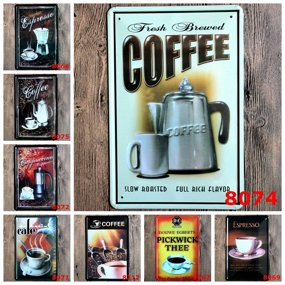 Popular antique coffee sign buy cheap