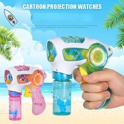 2019 neue Blinkende Licht Up Kinder Blase Sommer Schwimmen Maschine Spielzeug Geburtstag Geschenk Für Spaß Großhandel Drop Verschiffen