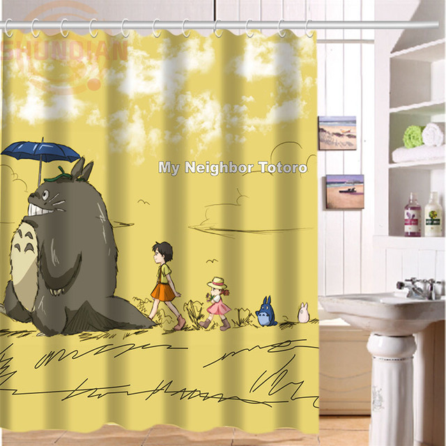 H P259 Hot Sale My Neighbor Totoro1 Custom Waterproof Shower Curtain