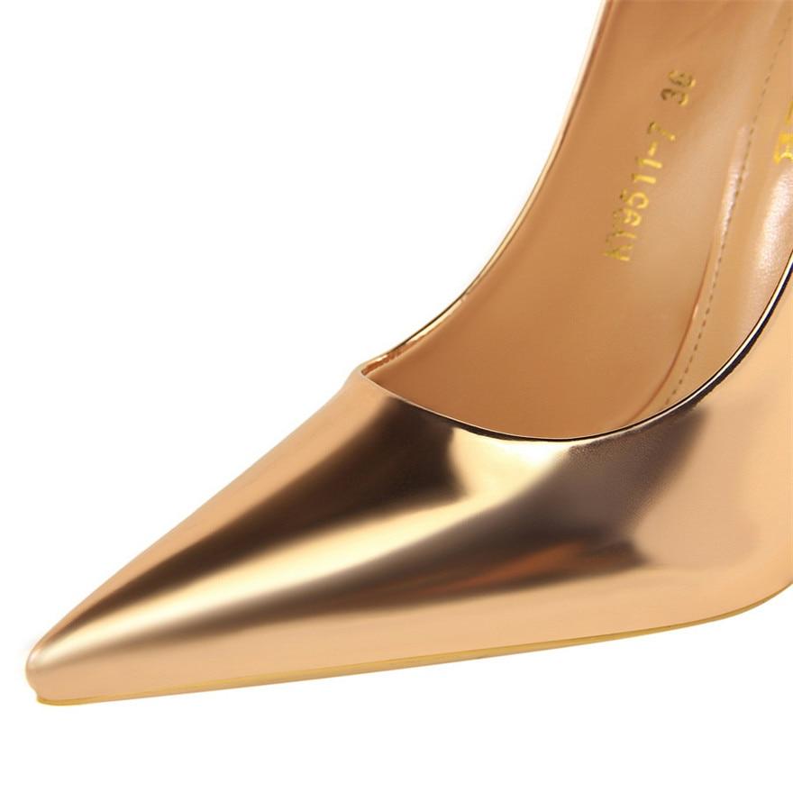 Mariage Talons Nouveau bronze Cuir Mode or En Hauts Partie Pompes Femmes De Sexy Bureau argent Brevet Noir Bigtree champagne Chaussures qnBOwgvt