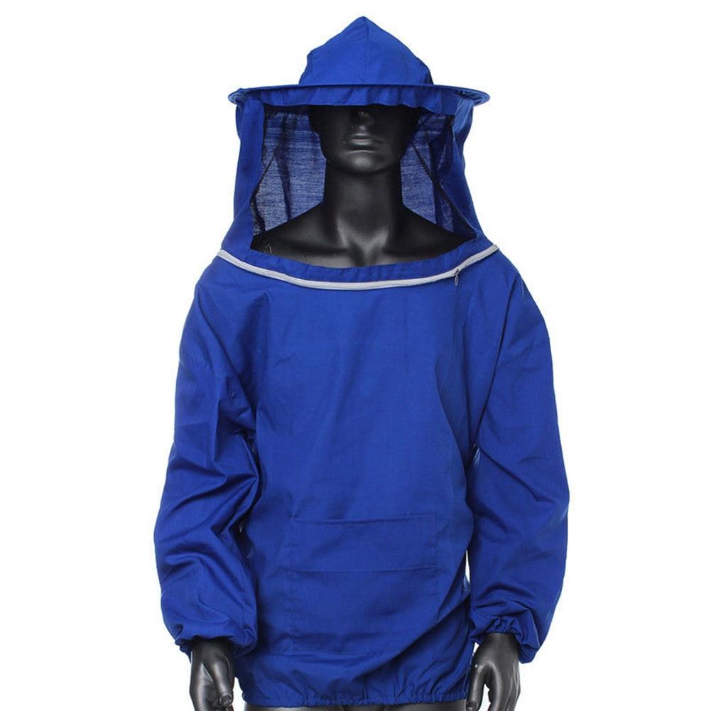 Beekeeping Jacket Smock Protective Protector Bee Keeping Hat Sleeve Breathable Equipment E2S