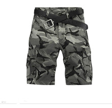 2016 Новых людей Летом Армия Камуфляж Колен Нескольких Карманы Военный Тактический Камуфляж Случайные Мужчины Балахон Брюки-карго