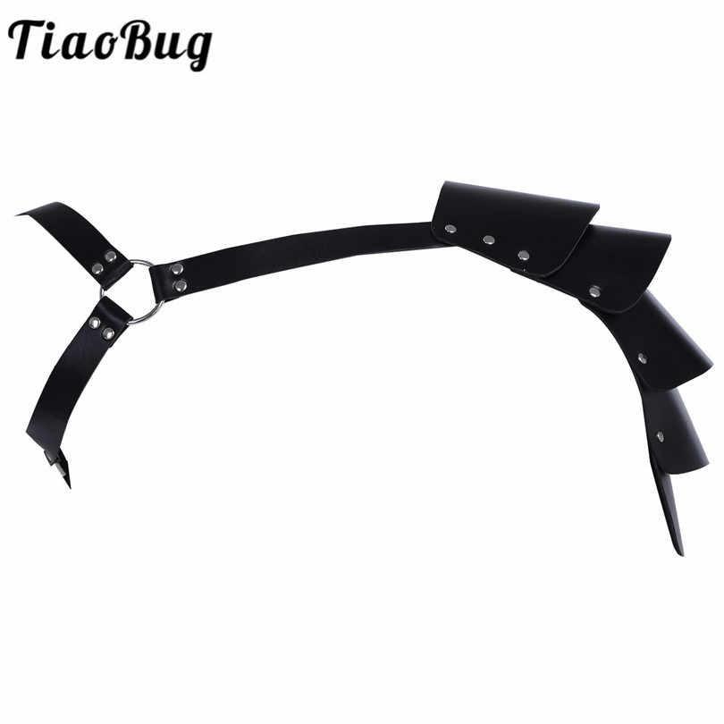 TiaoBug, высокое качество, искусственная кожа, сексуальный мужской нагрудный ремень для тела, регулируемый плечевой ремень с заклепками, БДСМ, ремень для связывания, мужское нижнее белье