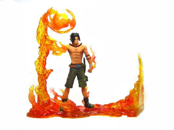 NEW hot 14-17cm 2pcs/set One piece ace Marshall D Teach duel action figure toys collection Christmas gift doll
