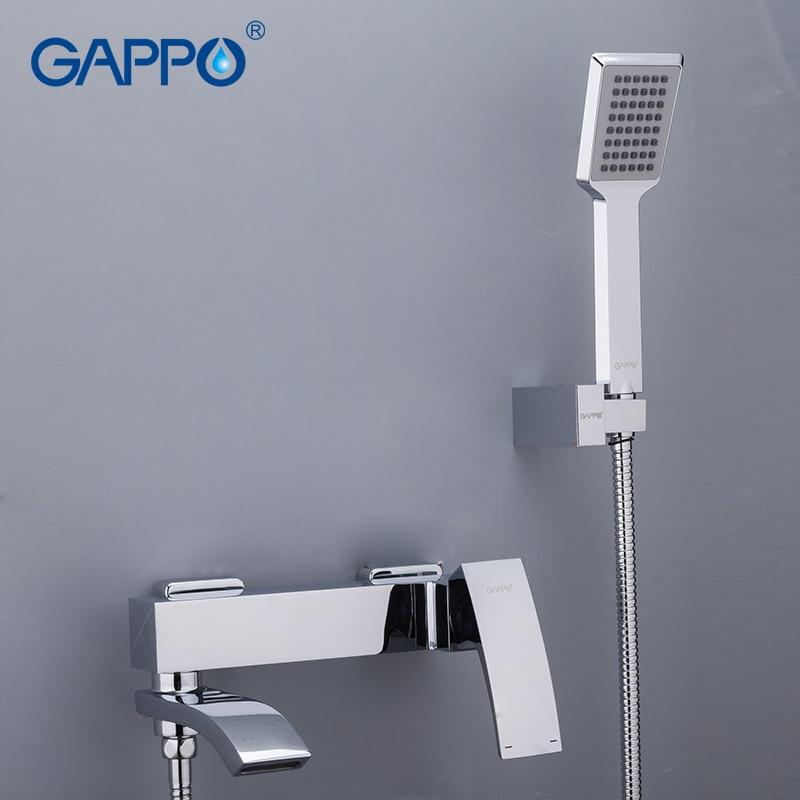 Gappo chrome laiton maison robinets de douche bain douche cascade pomme de douche chrome mitigeur robinet d'eau salle de bain ensemble de douche