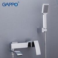 Gappo chrome brass home shower faucets bath shower waterfall shower heads chrome mixer water tap bathroom shower set