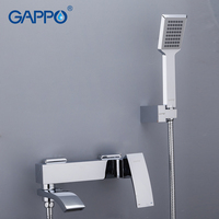 Gappo chrome brass home shower faucets bath shower waterfall shower heads chrome mixer water tap bathroom shower set