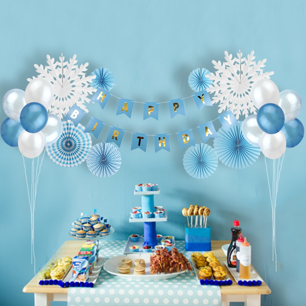 Birthday Party Decorations 24pcs Happy Birthday Banner ...