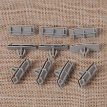 CITALL 10x Gray Fender Flare Moulding Clips 55157055AA 55156447AB For Jeep Liberty Wrangler 2005-2008 2009 2010 2011 2012 2013+