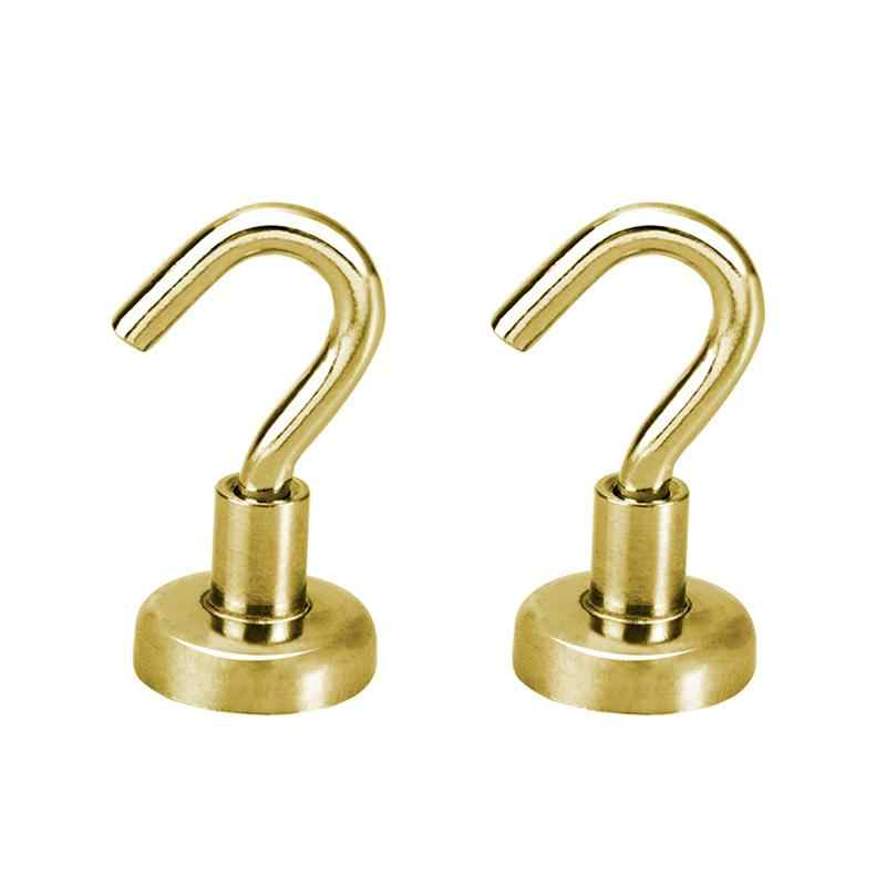 2pcs Heavy Duty Hook Holder Super Strong Magnetic Hooks Wall Hanging Magnet Hooks For Home Door Bags Storage Organization