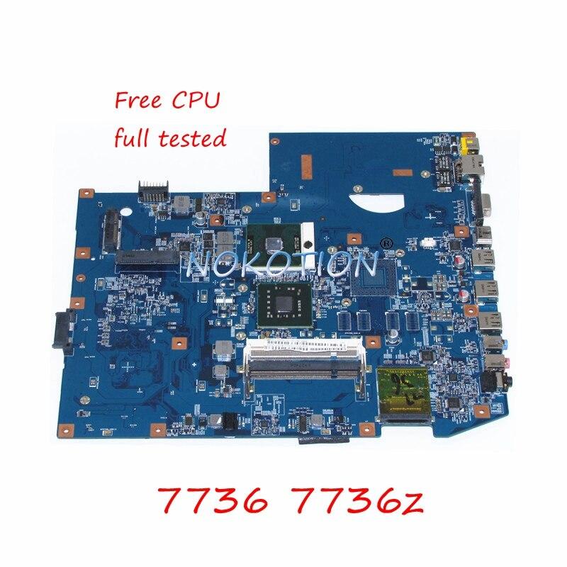 все цены на NOKOTION MBPJB01001 MB.PJB01.001 Main board For Acer aspire 7736 7736z Laptop Motherboard 48.4FX01.01M GL40 DDR2 Free CPU онлайн