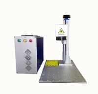 Factory direct sales 20W Raycus fiber laser metal marking machine used for aluminum gold silver brass laser engraving plastic PV