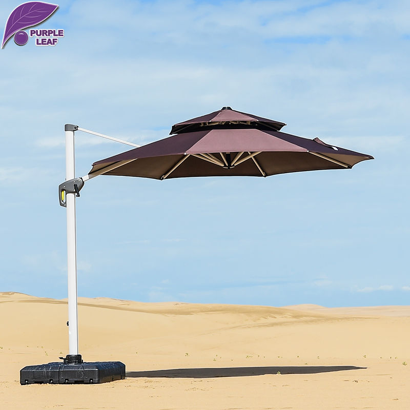 PurpleLeaf Patio Umbrella Stable Wind Resistance Outdoor Garden Furniture  Market Umbrella