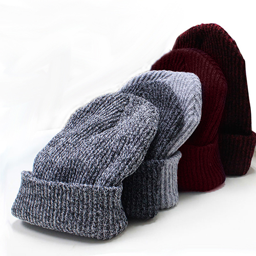 Winter Warm Women Men Beanies Knitted Ski Crochet Slouchy Hat Baggy Casual Cap hot winter beanie knit crochet ski hat plicate baggy oversized slouch unisex cap