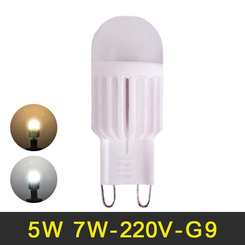 G9 LED Lamp 220V 5W 7W Mini LED G9 Bulb LED Light Ceramic High Power ...