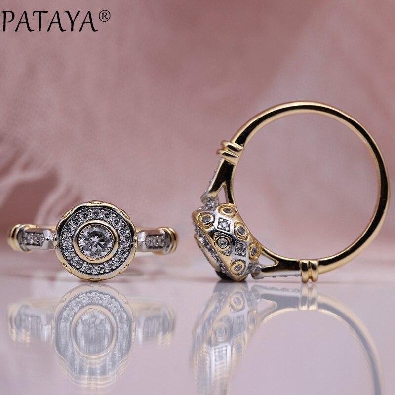 Женское кольцо из розового золота 585 пробы, с натуральным Цирконом