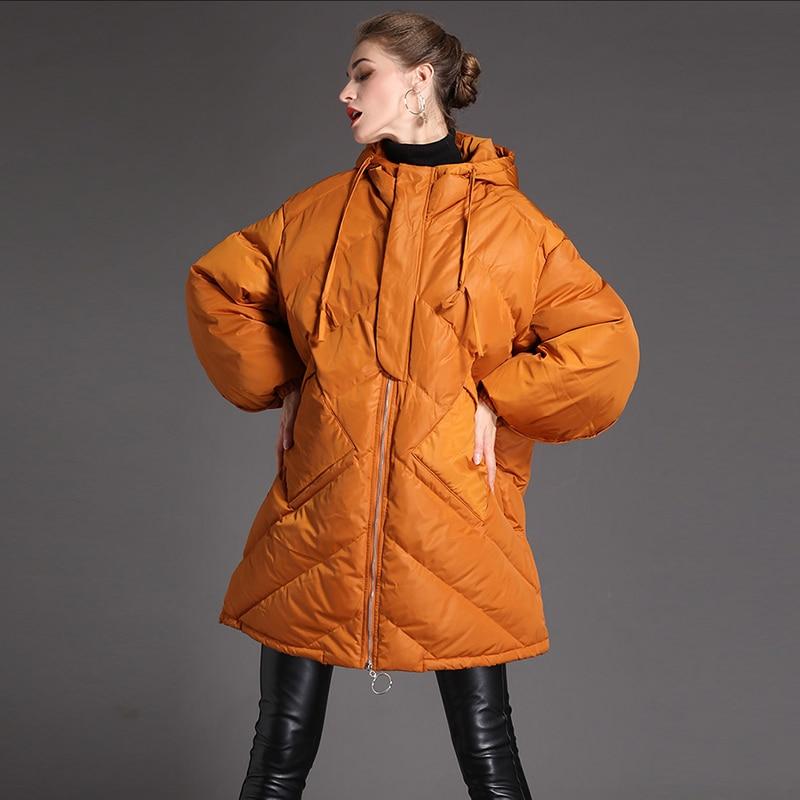 New Veste Vestes 2 Rue Vers Top D'hiver 1 Le Parka High Chaud Fashion 2018 Manteau Qualité Femmes De Color color Bas Lâche Épais dCthxsBQr