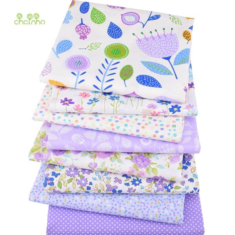 8 teile/los, twill Baumwolle Stoff Patchwork Floral Tissue Tuch Von Handmade DIY Quilten Nähen Baby & Kinder Blätter Kleid Material