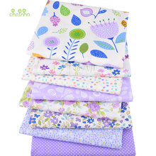 8pcs/Lot,Purple Floral Series,Printed Twill Cotton Fabric Patchwork Cloth For Handmade DIY Quilting Sewing Baby&Child's Material