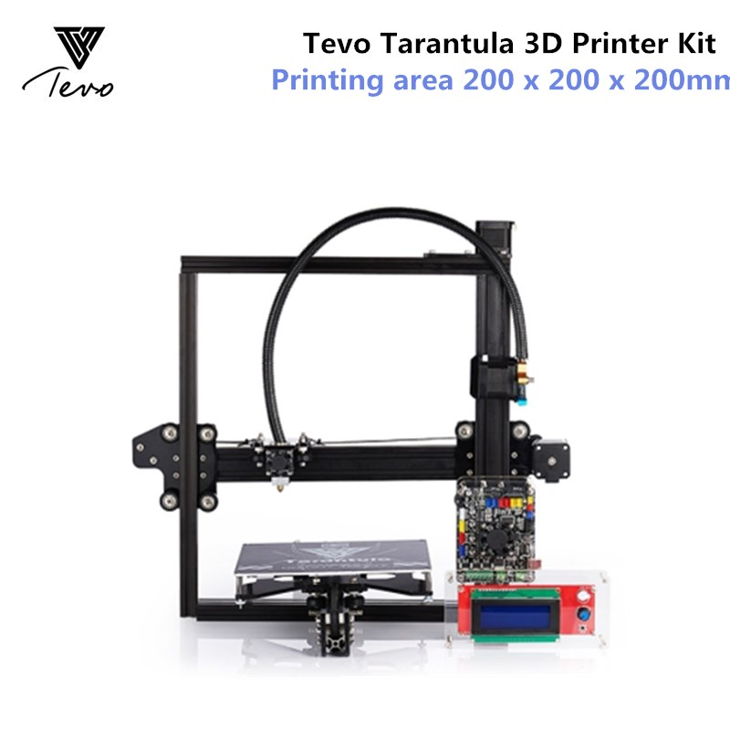 Tevo Tarantula 3D Printer Kit Aluminium Extrusion 3D Printers kit 3d printing 2 Roll Filament SD card Titan Extruder Geeks Gift 2018 flsun i3 3d printer diy kit dual nozzle touch screen large printing size 300 300 420mm two roll filament for gift