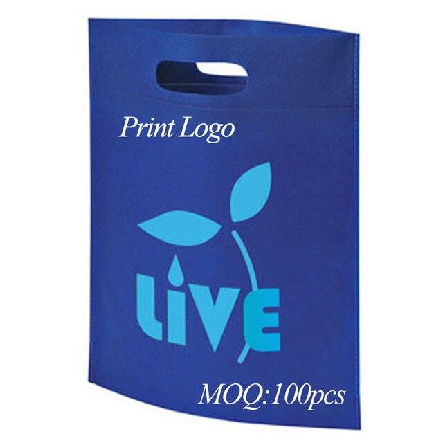 Non-woven bag 40x30cm custom logo print non woven fabric mix order shopping  bag 497d065cec