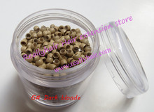 Free shipping 1000pcs bottle 2 9x1 6x2 0mm 6 Dark Blonde Nano Rings with Silicone for
