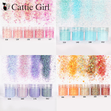 1Box Blue Gold Rose Nail Glitter Powder Sequins Mixed Art Decorations Christmas Sparkles Makeup Dust Set
