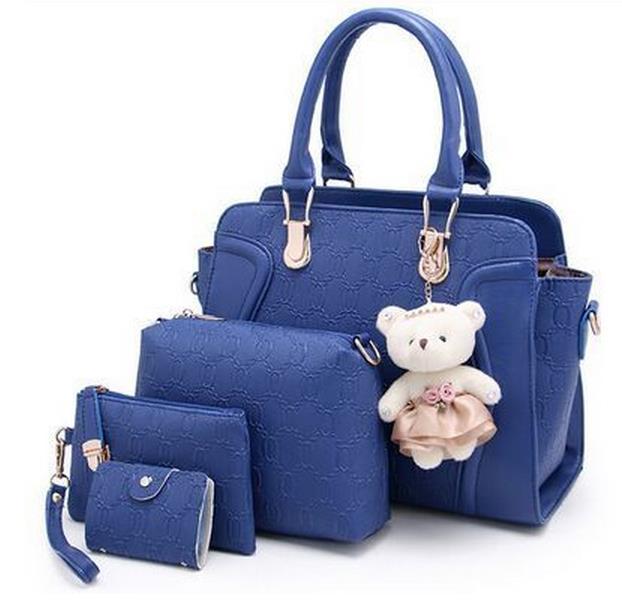 4 PCS Set composite bag Shoulder Bag women Crocodile Pattern Composite Bags Vintage Shoulder Bags set 4 piece set brand in Shoulder Bags from Luggage Bags