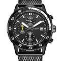 Ochstin new top homens relógio marca de luxo dos homens relógios banda de malha de aço inoxidável quartzo relógio de pulso moda casual relógios masculinos