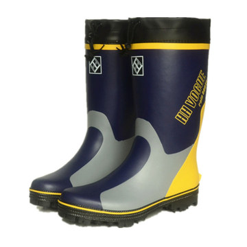 Rain-Boots Soles Rubber Safety Waterproof Steel with Nails Non-Slip Strip Big-Size Men