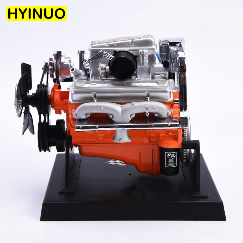 1/6 Scale Model Car Engine Model Super Sports Car Engine Model Suit Set Toy for 12 Action Figure Decoration Accessory