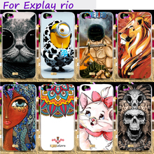 Hard Plastic Cool Skull Cute Minions Flower Phone Cases For Explay Rio Rio Play 5.0 inch Phone Cover Phone Bags Accessories