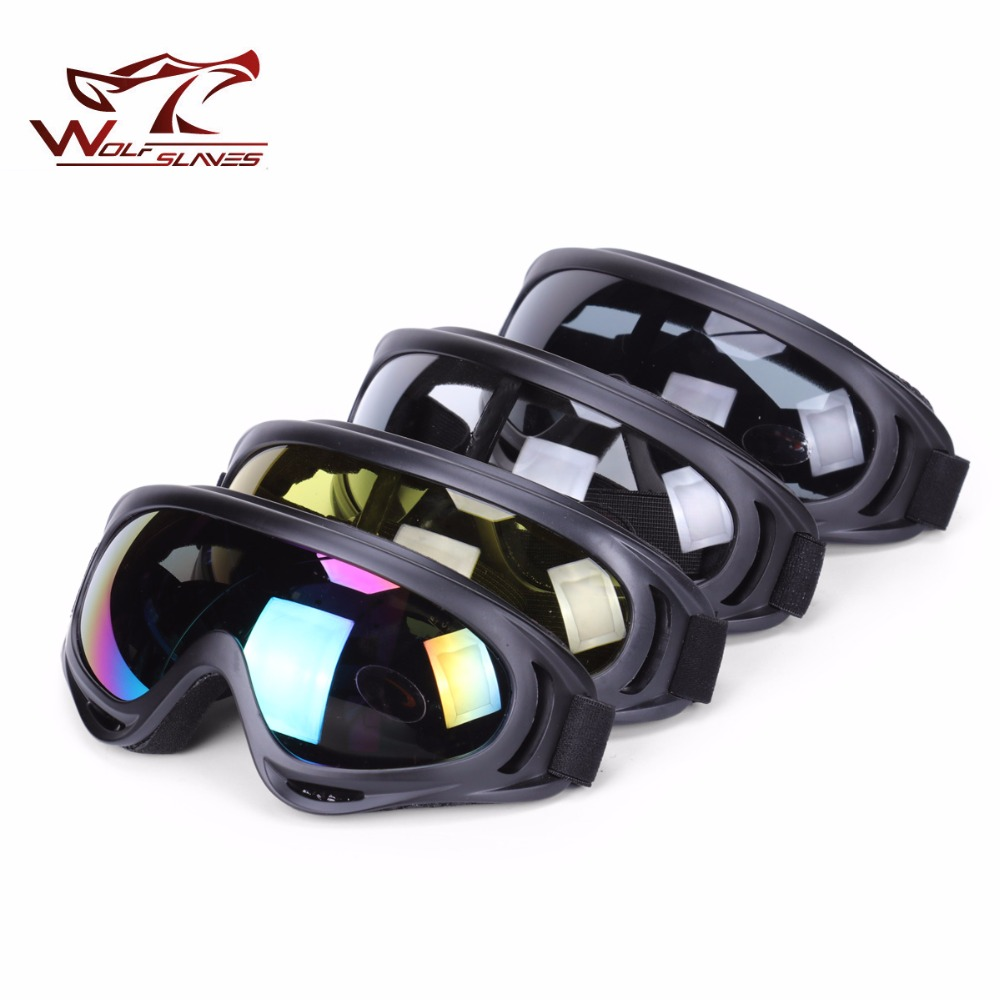 Wolfslaves Windproof X400 UV Protection Outdoor Sports Snowboard Skate Ski Goggles Motorcycle Cycling Sunglasses Lens