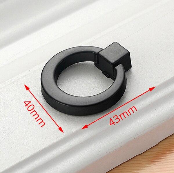 KAK американский стиль черный шкаф ручки цельный алюминиевый сплав кухонный шкаф ручки для выдвижных ящиков оборудование для обработки мебели - Цвет: KAK-2336C-Black
