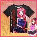 LoveLive Cosplay T-shirt Attractive Women Men T Shirt Anime Love Live Fashion Print Clothing Nishikino Maki COS 3D Tees Tops